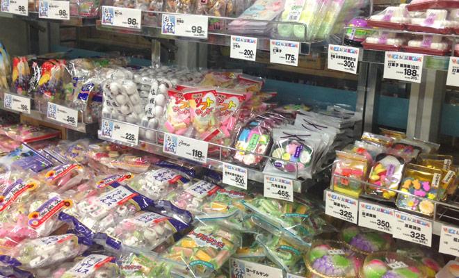盆菓子売り場