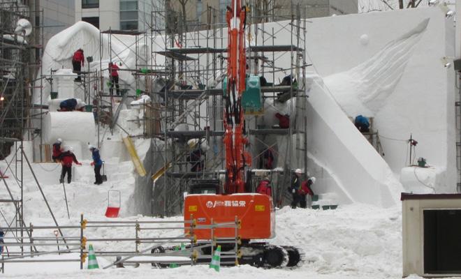 雪まつり設営3